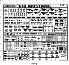 chrome(metal) decals 1/18 Mustang(silver) for model kits 7571