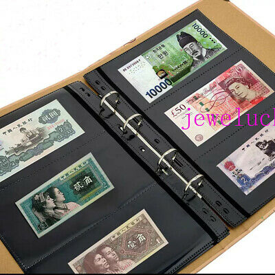Paper Folders 360pockets Album Banknotes Bills Stamp Ticket Collections Book