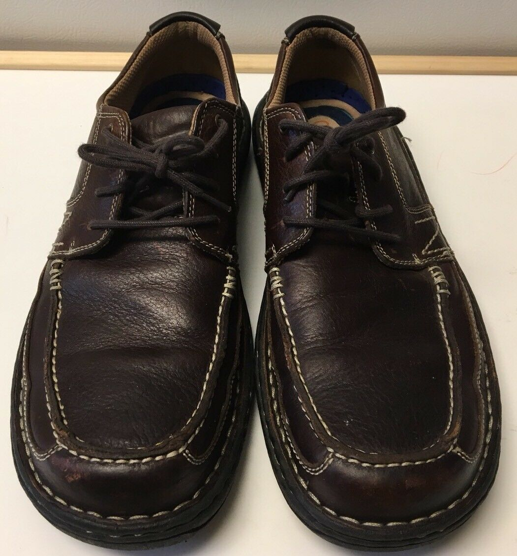 Nunn Bush Genuine Leather 3.0 Mens Brown Lace Up Casual Oxford shoes SZ 10.5