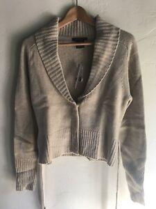 Bia Sz Nuovo lavorato cashmere Merino Oatmeal a di 300 maglia in Lana e L Cardigan Theory maglione tZqZCwxU