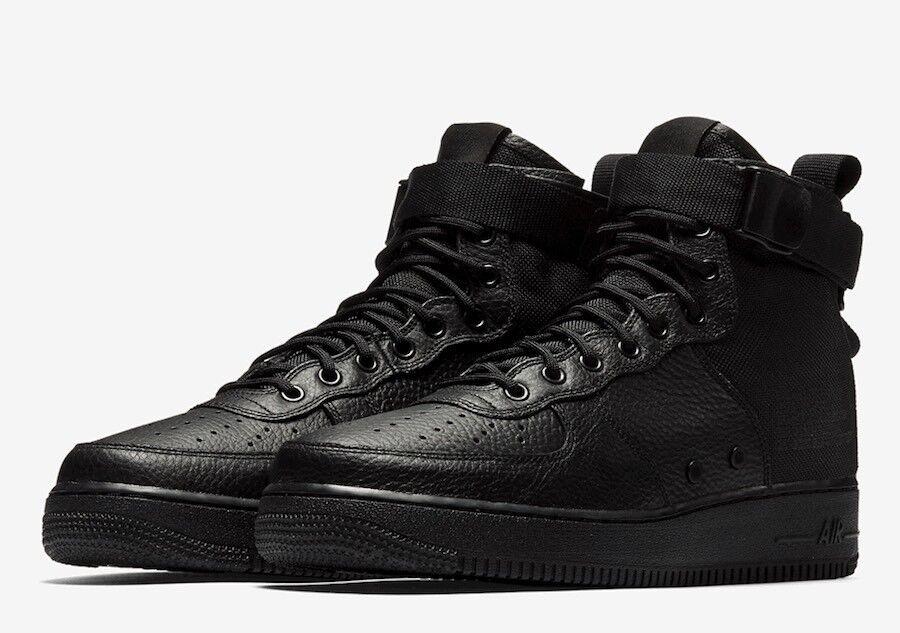 Brand New Mens SF AF1 MID 917753-005  Black Size 9.5