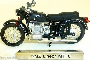 Kmz-Dnepr-MT10-Moto-Noir-Rda-1-24-Atlas-7168118-Neuf-Emballage-Scelle-LA3
