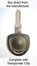 VAUXHALL OMEGA 1998 - 2001 SPARE KEY with Virgin ID40 Transponder Chip.