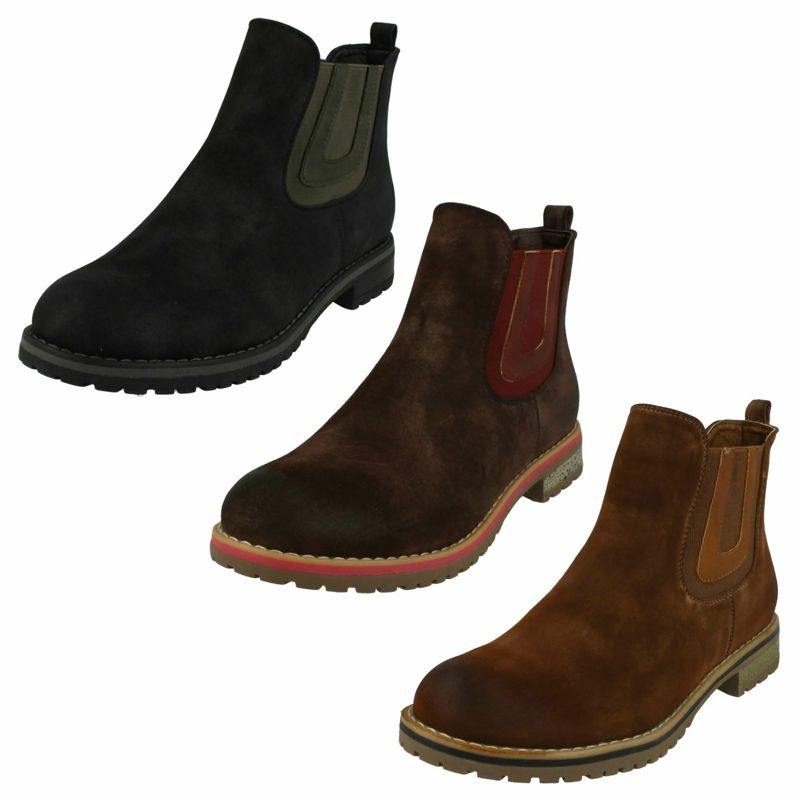 Ladies Down To Earth Casual Flat Chelsea Ankle Boots