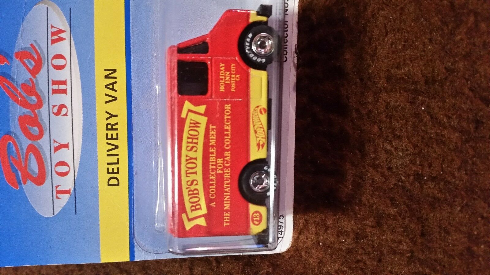 HOT WHEELS BOBS BOBS BOBS DELIVERY VAN- RARE VHTFblueE CARD-VARIATION1989 93e8c1
