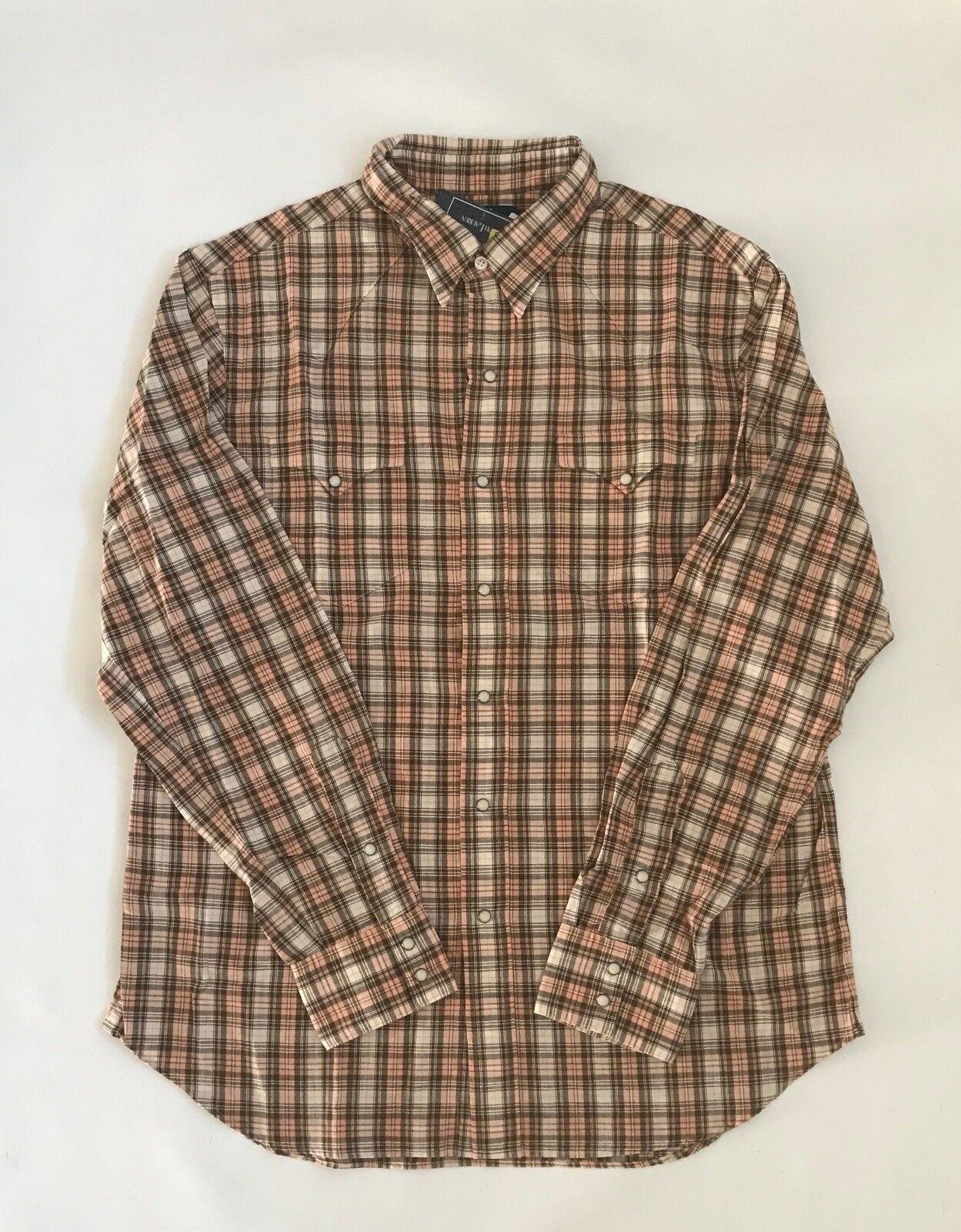 BNWT Ralph Lauren Western Button Front Men's Shirt Sz L