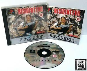 Resident-Evil-Sony-Playstation-ps1-Platinum-Spiel-PAL-ausgezeichnete-CIB