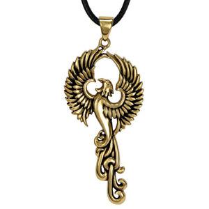Bronze phoenix fire bird pendant rebirth alchemy symbol eagle image is loading bronze phoenix fire bird pendant rebirth alchemy symbol mozeypictures Image collections