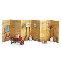American Girl Felicity Stable Set For 18 Dolls Barn Wheel Barrow Scene