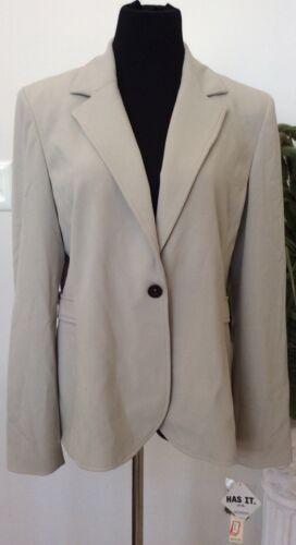 Nwt Size Blazer 400290415933 Jacket 72 14 Smith Blend Women's Polyester Amanda Career Gray BSBraq