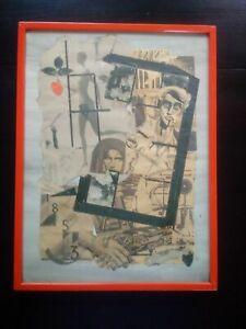 Collage-tableau-1984-signe-Pologne-Solidarnosc-collage-journaux-Nicolas-Vial