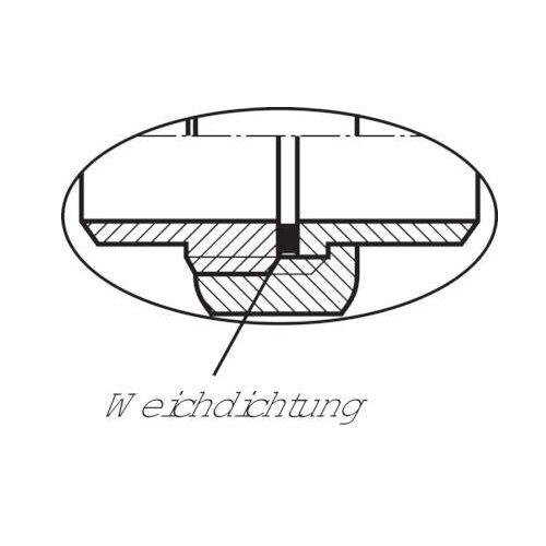 pn 16 Manguito separable con rosca externa plana dichtend va 1.4408
