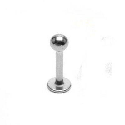 14 Gauge 316L Surgical Steel Labret Monroe with Spike Chin Lip Barbell
