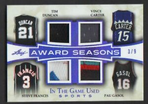 2018-Leaf-In-The-Game-Used-TIM-DUNCAN-CARTER-FRANCIS-GASOL-Patch-Jersey-Patch-9