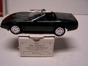 1994 Corvette Convertible Promotional Model Promo In Original Box Polo Green Met