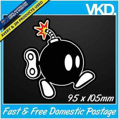 Bob-Omb Sticker/ Decal - Bomb Super Mario Brothers Luigi JDM Retro Yoshi Bros