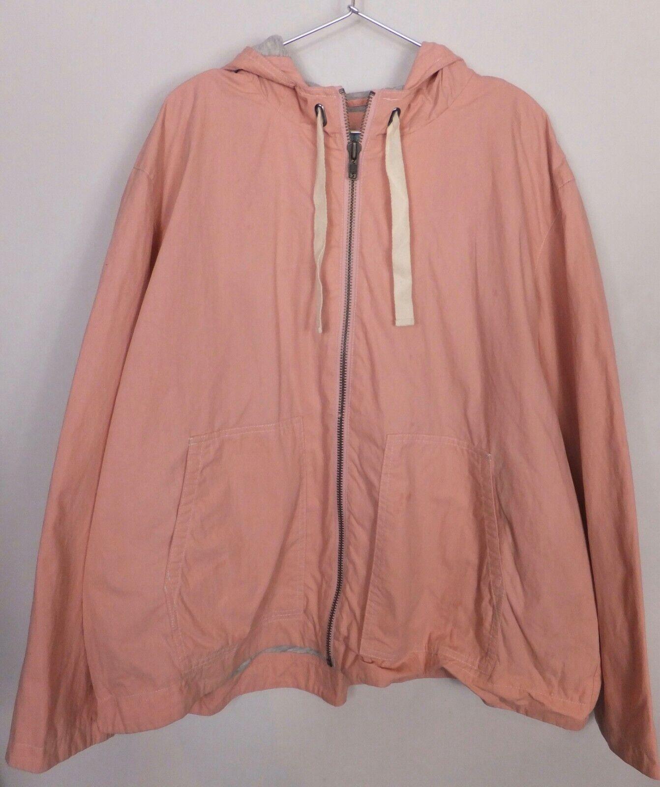 New Women's Boden Salmon Pink Hooded Light Weight Rain Jacket Size 20