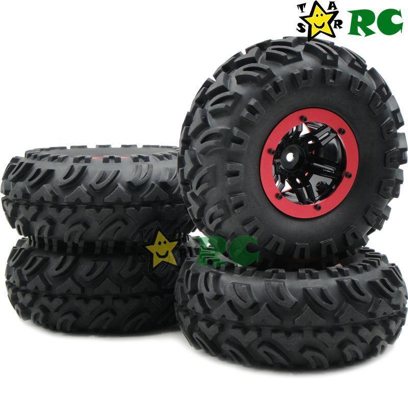 4 un. nuevo sistema de aire RC Crawler Neumáticos 130mm y 2.2 mm ruedas para Axial RC4WD