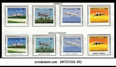 De Goedkoopste Prijs Marshall Islands 1989 Aviation Set Of 8-stamps Both Airmail & Booklet Singles Mn Koop One Give One