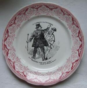 Assiette-parlante-DIGOIN-Sarreguemines-Carnaval-des-proverbes-n-7-humour