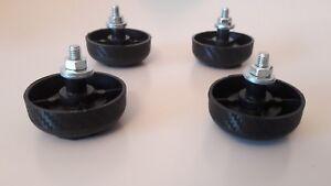 4-x-Technics-1200-1210-MK2-replacement-leg-foot-feet-DJ-Turntable