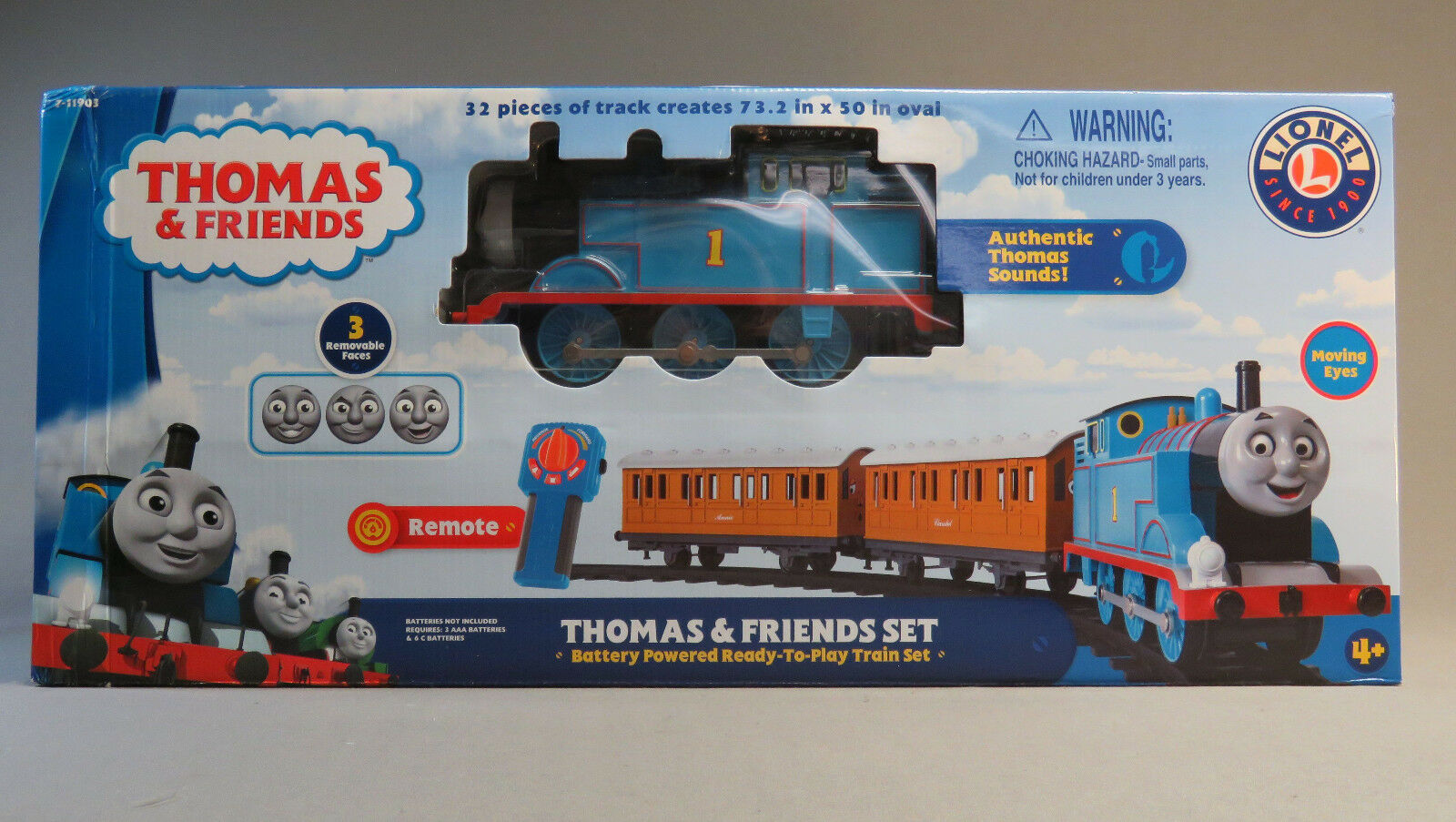 LIONEL LARGE LARGE LARGE SCALE THOMAS & FRIENDS READY TO PLAY TRAIN SET steam 7-11903 NEW 9ec946