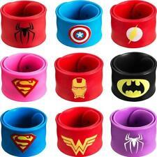 GREAMBABY Superhero Slap Bracelet Kids Boys /& Girls Birthday Party Supplies Favors 9 Pack
