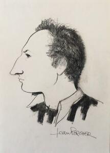 HonnêTeté Jean Porcher (1927 à Saint-james (manche) Autoportrait ?portrait Charente Nantes