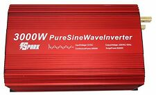 3000W (6000W) PURE SINE WAVE POWER INVERTER SOFT START DC12V-AC240V