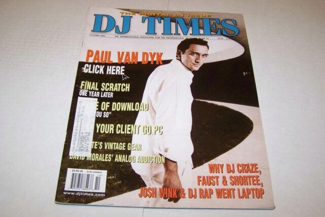 OCT 2003 DJ TIMES Music Magazine PAUL VAN DYK