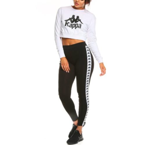 S M Kappa Anen Leggings Black//White XS L