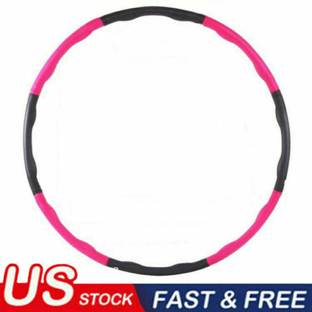 WEIGHTED GYM HULA HOOP FITNESS EXERCISE ABS FOAM PADDED WORKOUT HOOLA YOGA