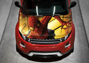 car hood wrap	  Spiderman Car Hood Wrap Full Color Vinyl Sticker Decal Fit Any Car ...