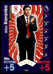 Details about Match Attax 2016-2017 EXTRA Aitor Karanka Middlesbrough  Manager No  M12