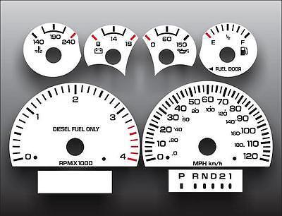1994-1997 Dodge Ram Diesel Cummins White Face Gauges