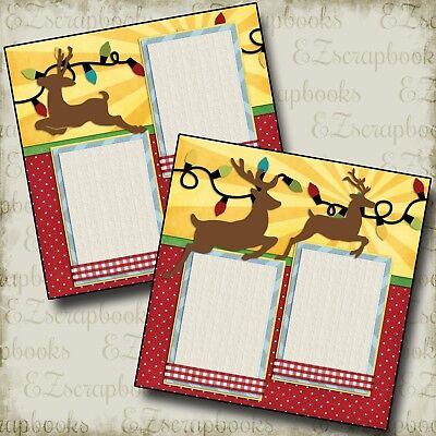 CHRISTMAS COOKIES 2 Premade Scrapbook Pages EZ Layout 929