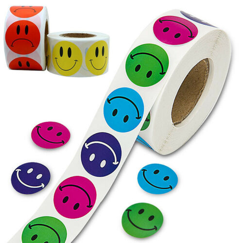 500* Smile Face Labels Stickers For Business Kids Children Sealing Decal Gift