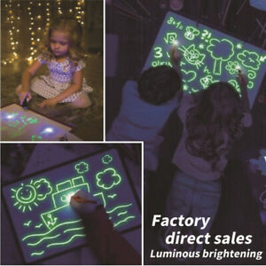 Developing-Toy-Drawing-Board-Educational-Draw-With-Light-Fun-And-Magic-Gift-New