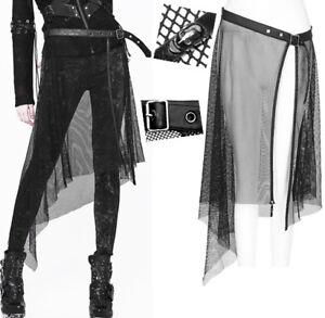 Détails sur Jupe surjupe résille ceinture gothique punk lolita skull stylé grunge PunkRave