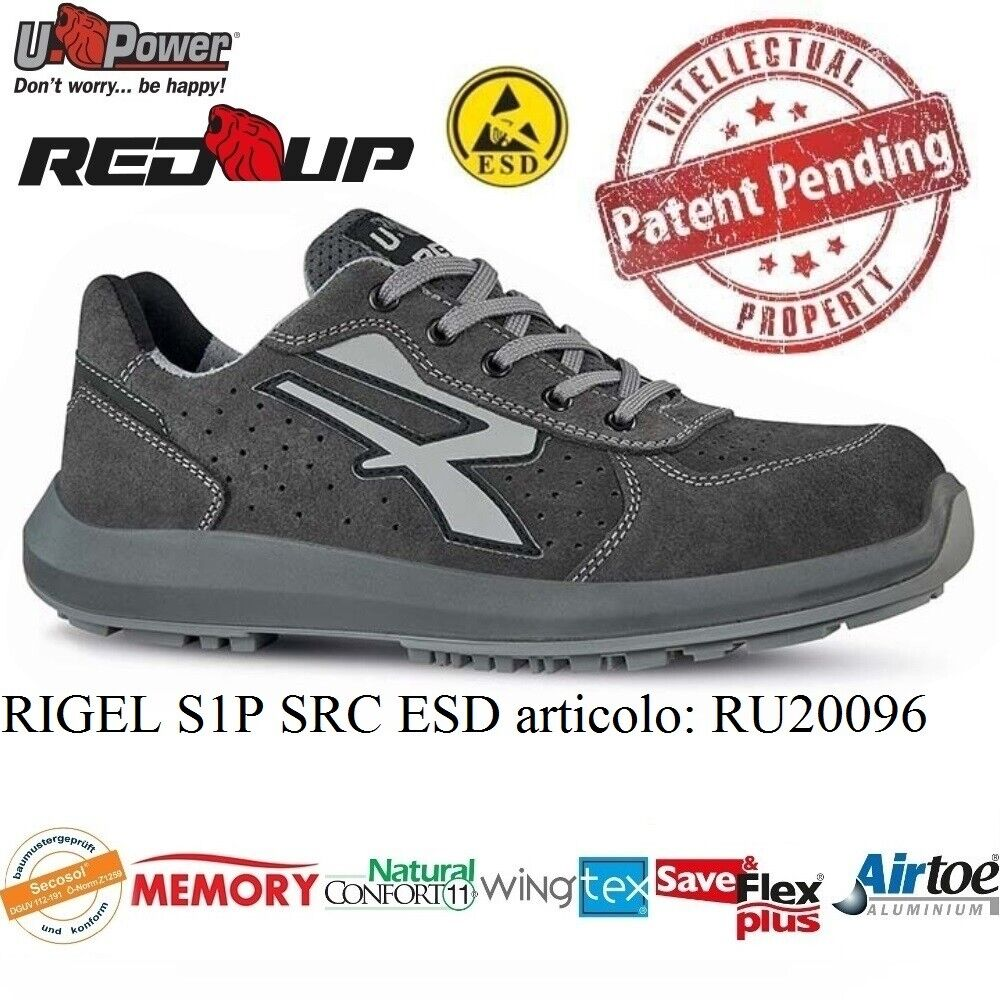 UPOWER chaussures LAVor ANTINFORTUNISTICA RIGEL S1P SRC ESD U-POWER RU20096 rouge UP