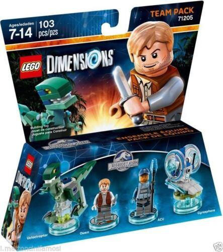 LEGO DIMENSIONS 71205 Team Pack OWEN ACU VELOCIRAPTOR Jurassic World DISPONIBILE