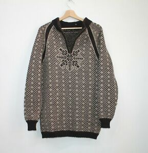 Dale-of-Norway-Zip-Cardigan-Wool-Men-039-s-Knit-Jumper-Sweater-Brown-Size-M-Medium