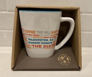 NEW Dunkin Donut Washington D.C.  DD Destinations Coffee Tea Cup Mug 12 oz RARE