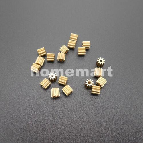 50X91A Brass Gear 0.3 Modulus Aperture 0.97mm Model Accessories 9T Metal 0.3M