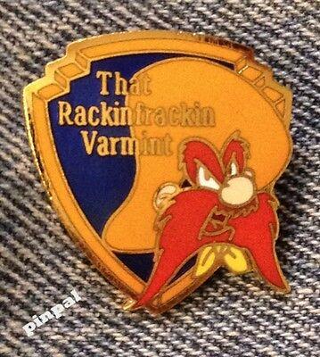 Looney Tunes Brooch Pin~Yosemite Sam~1989 vintage~Rackin Frackin Varmint~WB~NOS