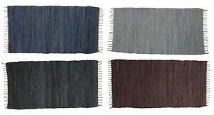 Handwebteppich Teppich 'Erdtöne' Läufer Webteppich Flickenteppich 70 x 140 cm