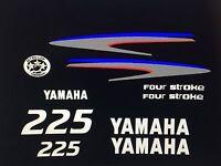 Yamaha Outboard Decal Kit 225 Hp 4 Stroke Kit - Marine Vinyl Not Ink-jet