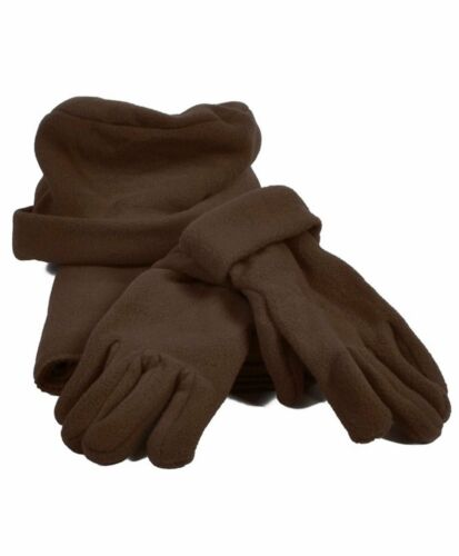 Women/'s Solid Color Polyester Fleece Warm Winter Set Gloves Hat and Scarf