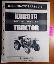 Kubota B6100 Tractor Illustrated Parts List Manual 577