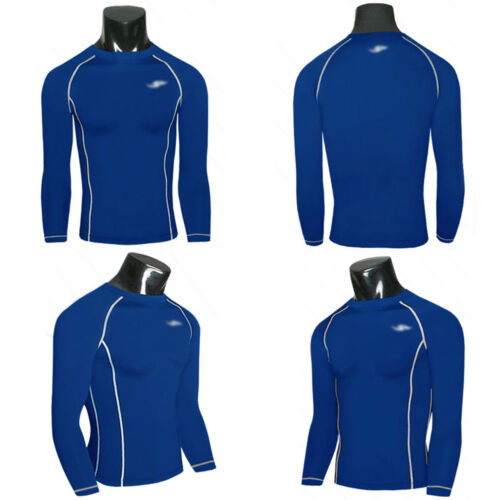 Mens Compression Under Shirt Base Layer Tight Tops Gym Sports Athletic T-Shirt
